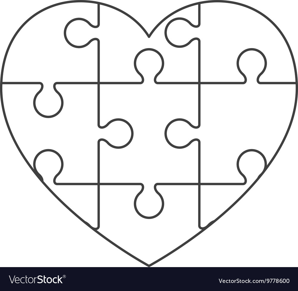 big heart puzzle pieces template agcrewall