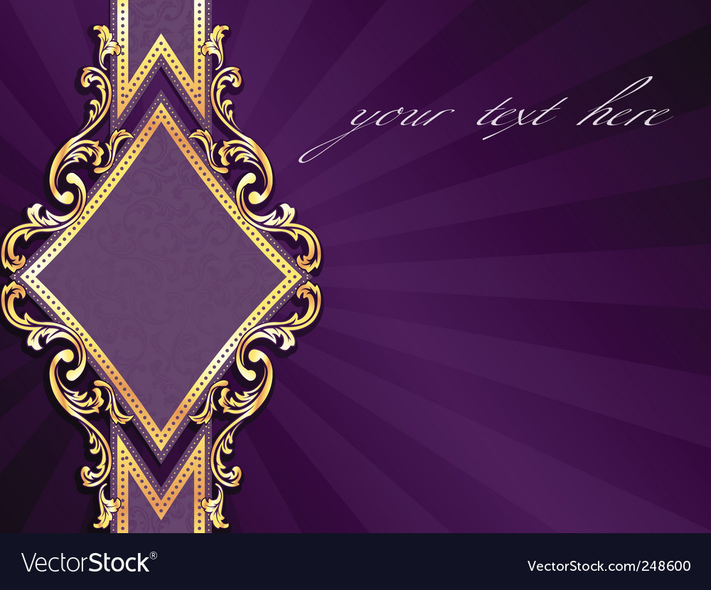 Horizontal label with gold rim vector image