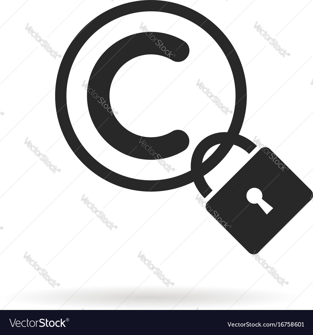 Black copyright symbol with padlock and shadow vector image black copyright symbol with padlock and shadow vector image biocorpaavc