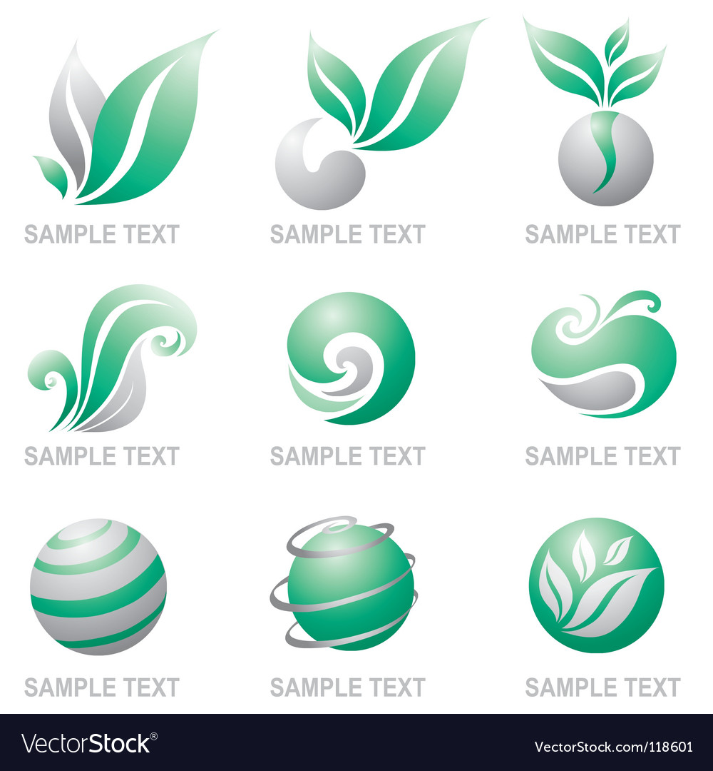Set of symbols of nature royalty free vector image set of symbols of nature vector image buycottarizona