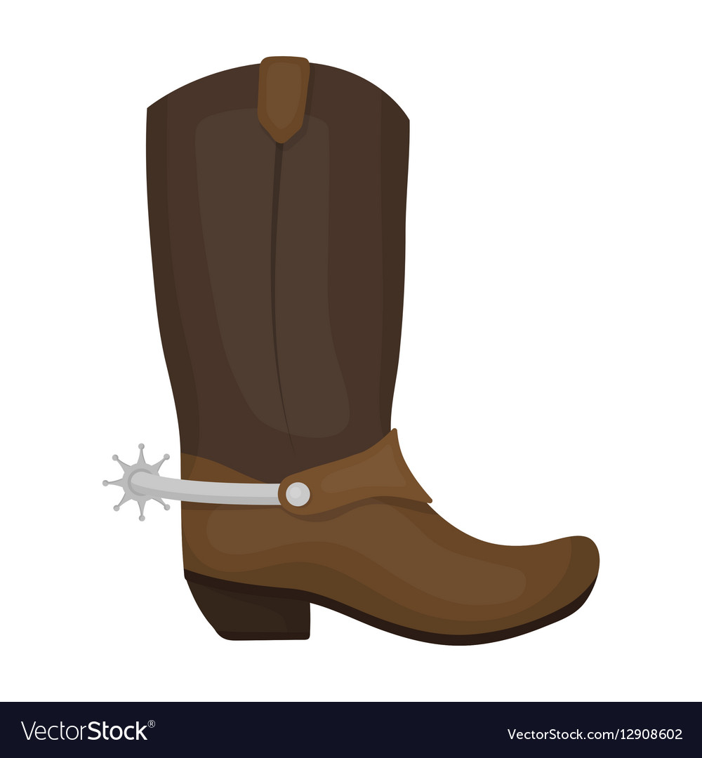 Cowboy boots icon in cartoon style isolated on vector image
