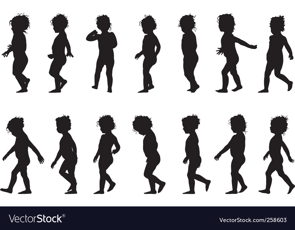 Child standing vector image