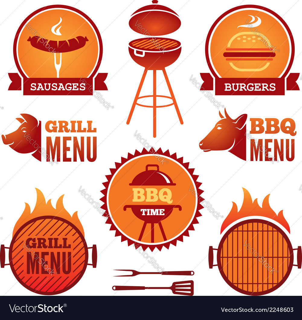 Grill and BBQ2 vector image