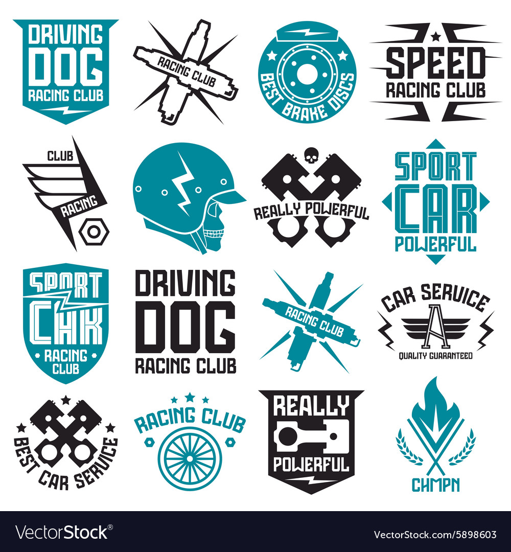 Car design sticker vector graphics - Vinyl Stickers On Car Vector Image