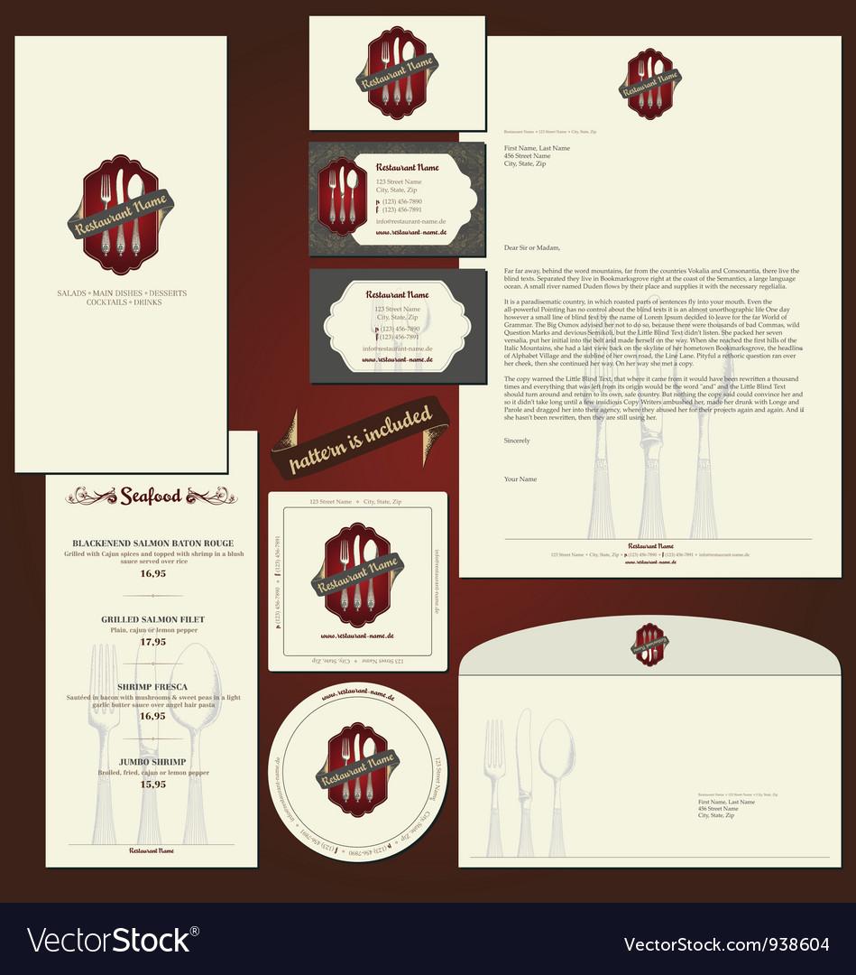 Corporate identity background vector image