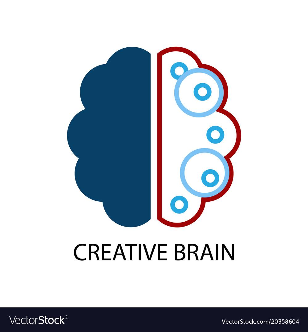 Creative brain logo Royalty Free Vector Image - VectorStock