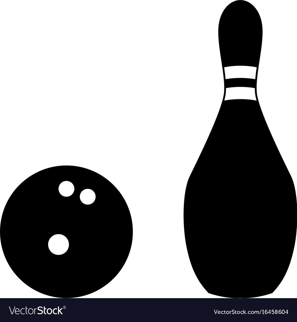 Pin and bowling ball vector image
