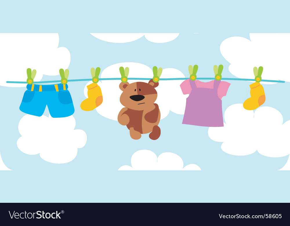 Child's things vector image