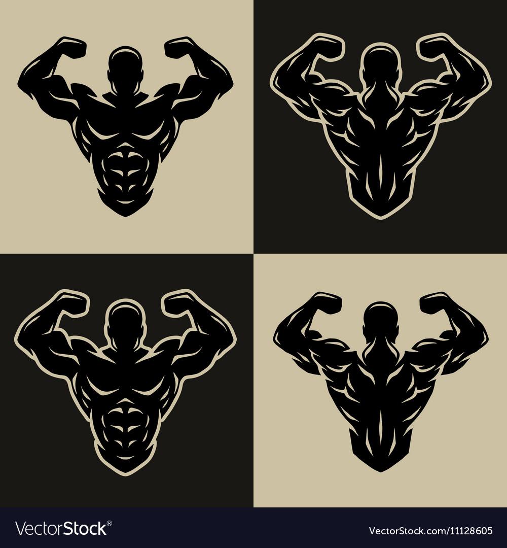 Bodybuilder logo symbol vector image