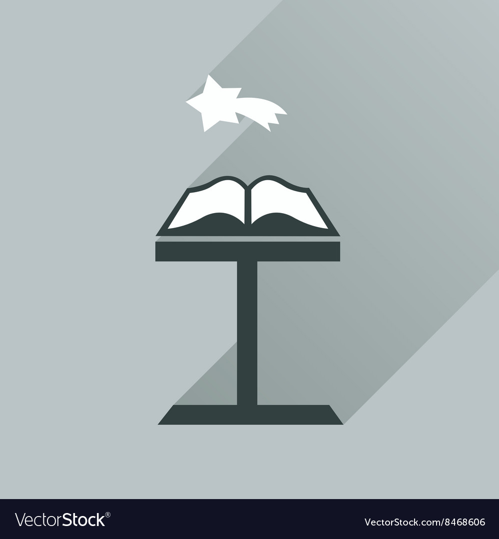 Flat icon with long shadow holy bible