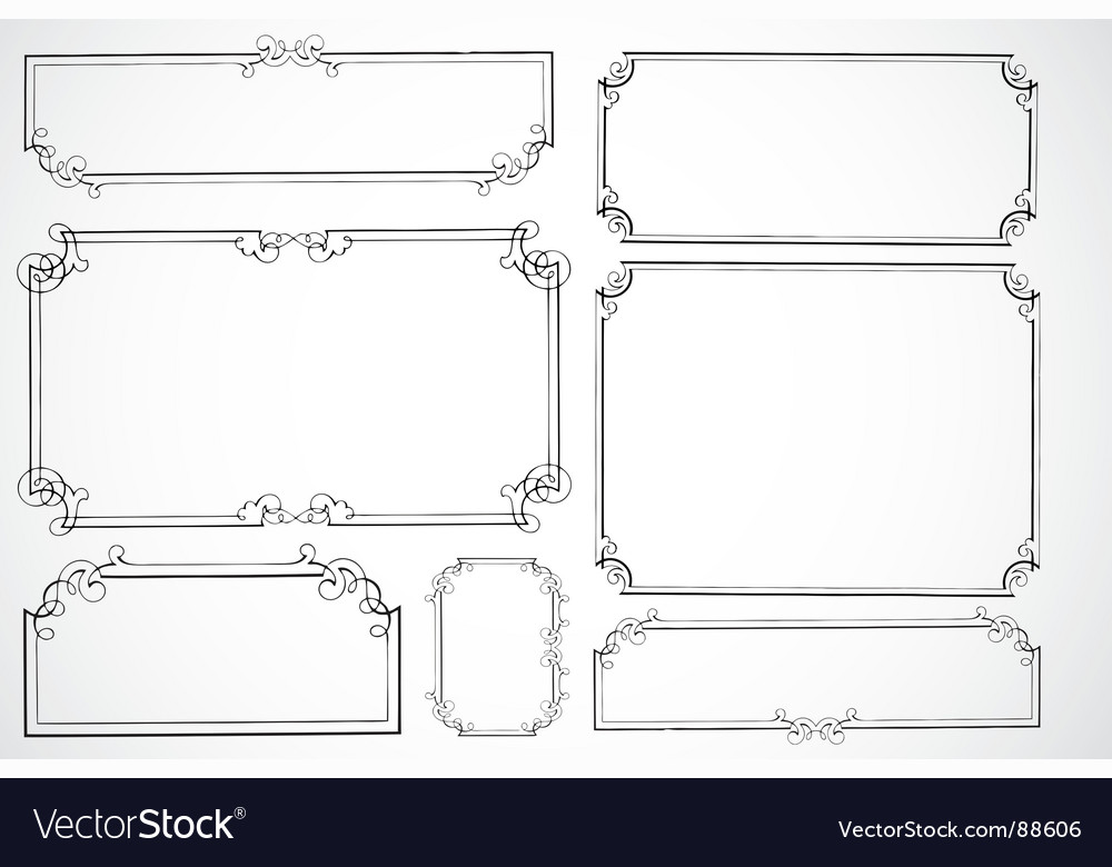 Certificate frames vector image