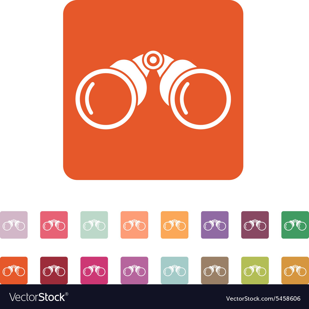 The binoculars icon Search symbol Flat vector image