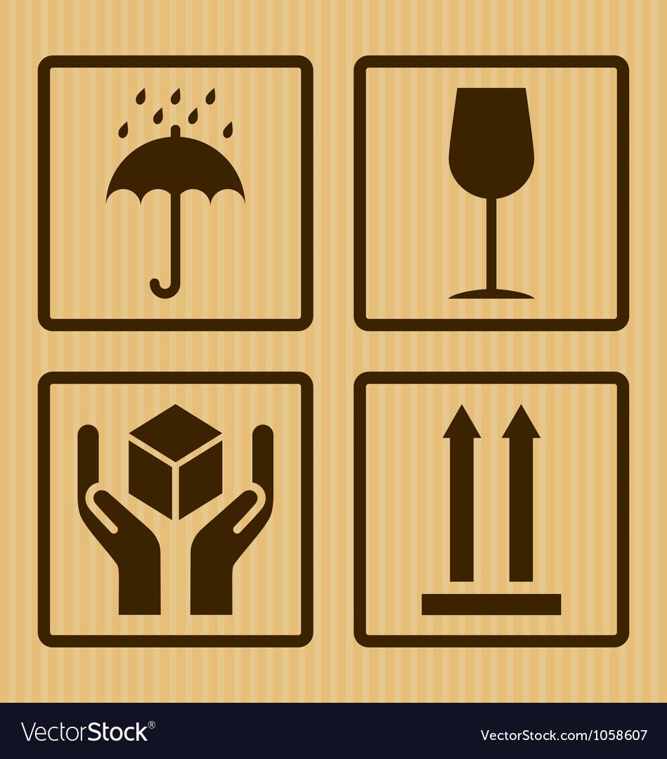 Cardboard symbols vector image