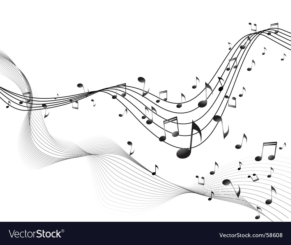Music blend vector image