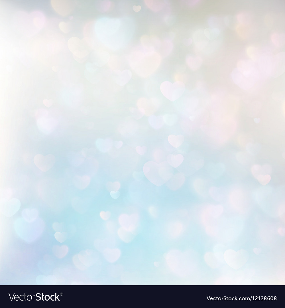 Defocused hearts bokeh background EPS 10 vector image