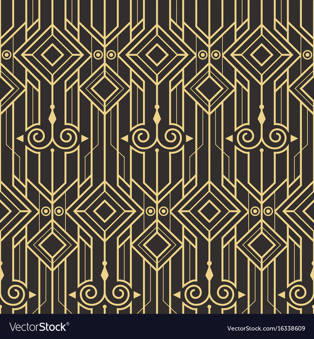 Abstract art deco modern seamless pattern vector image