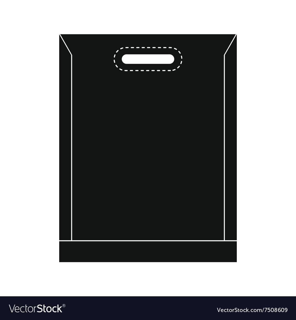 Blank plastic bag icon vector image