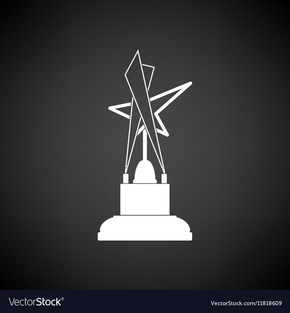 Cinema award icon vector image