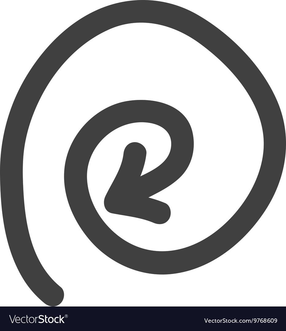 Sketch and circle arrow icon Direction design Vector Image