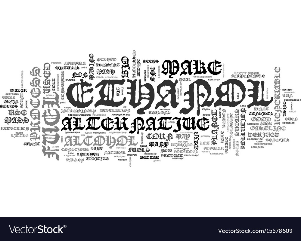 What is ethanol text word cloud concept vector image