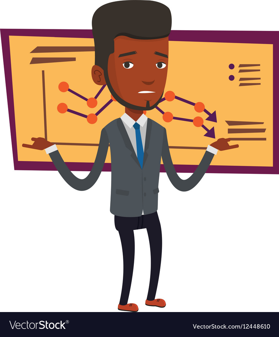 Bancrupt businessman vector image