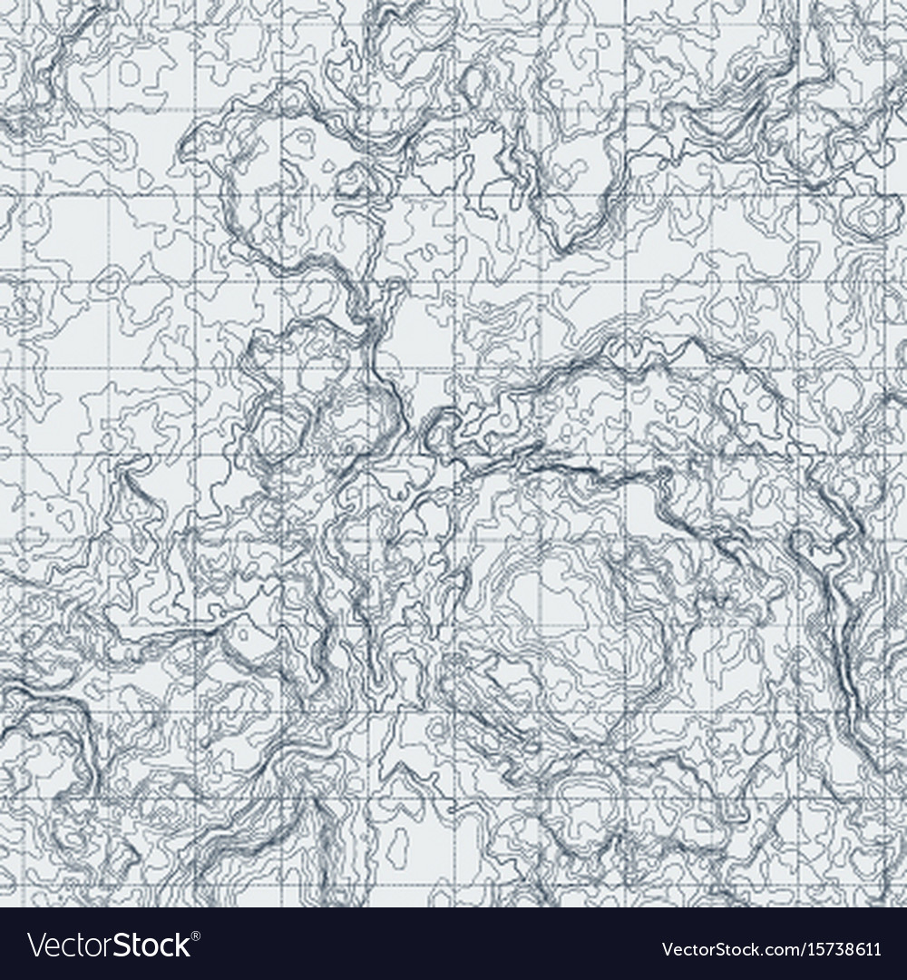 Abstract contour map with different relief vector image