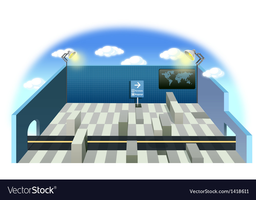 Airport Structure vector image