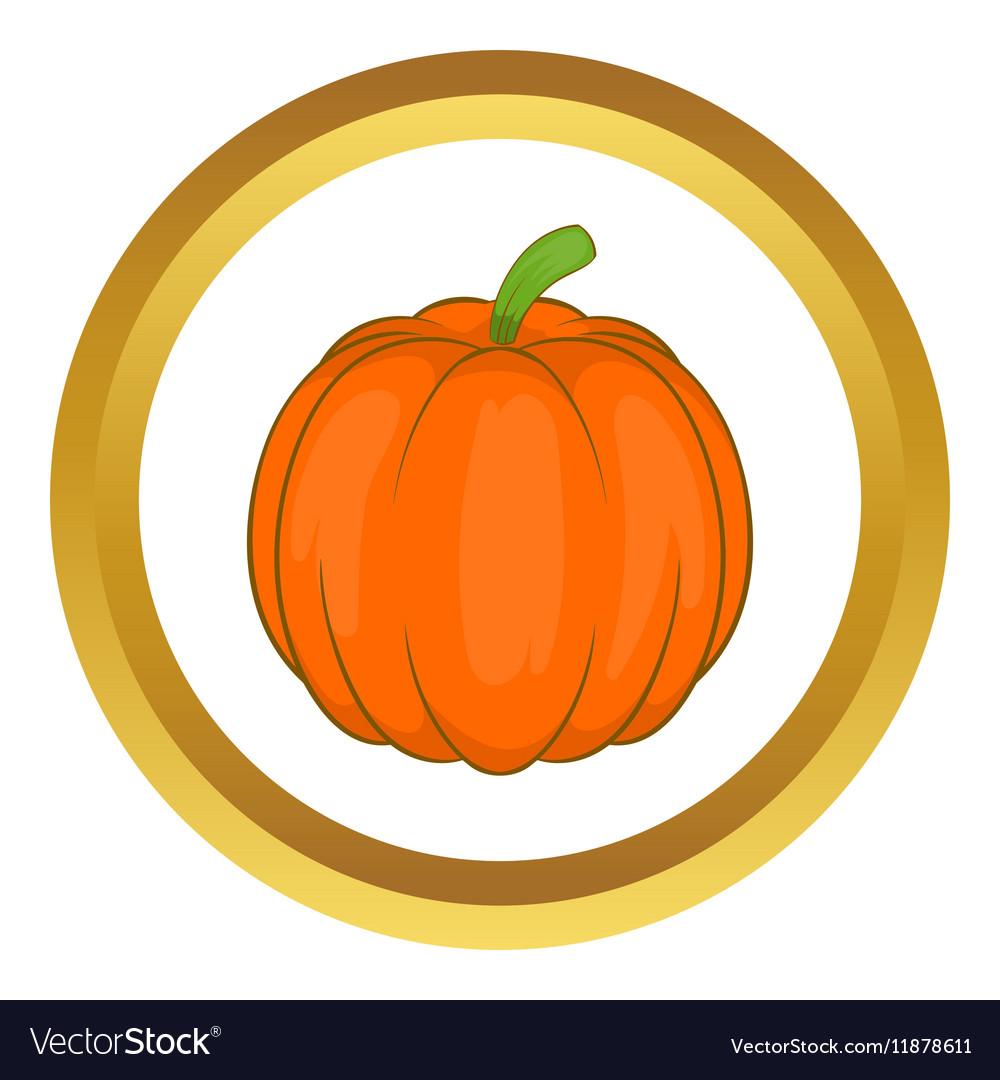 Autumn pumpkin vegetable icon vector image