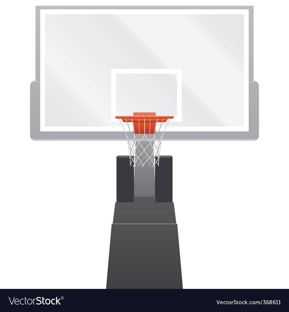 Vector basketball backboard vector image