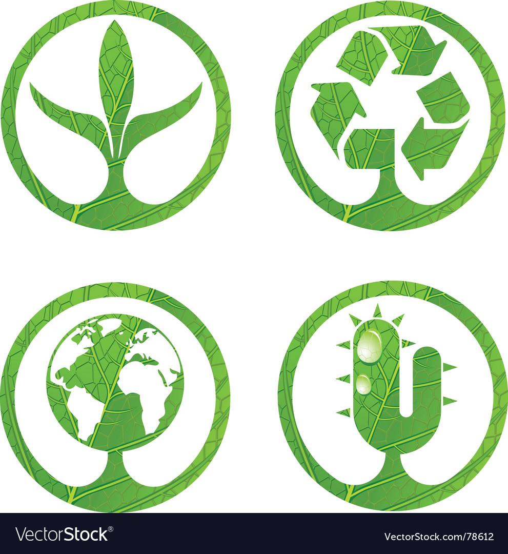 Eco signs vector image