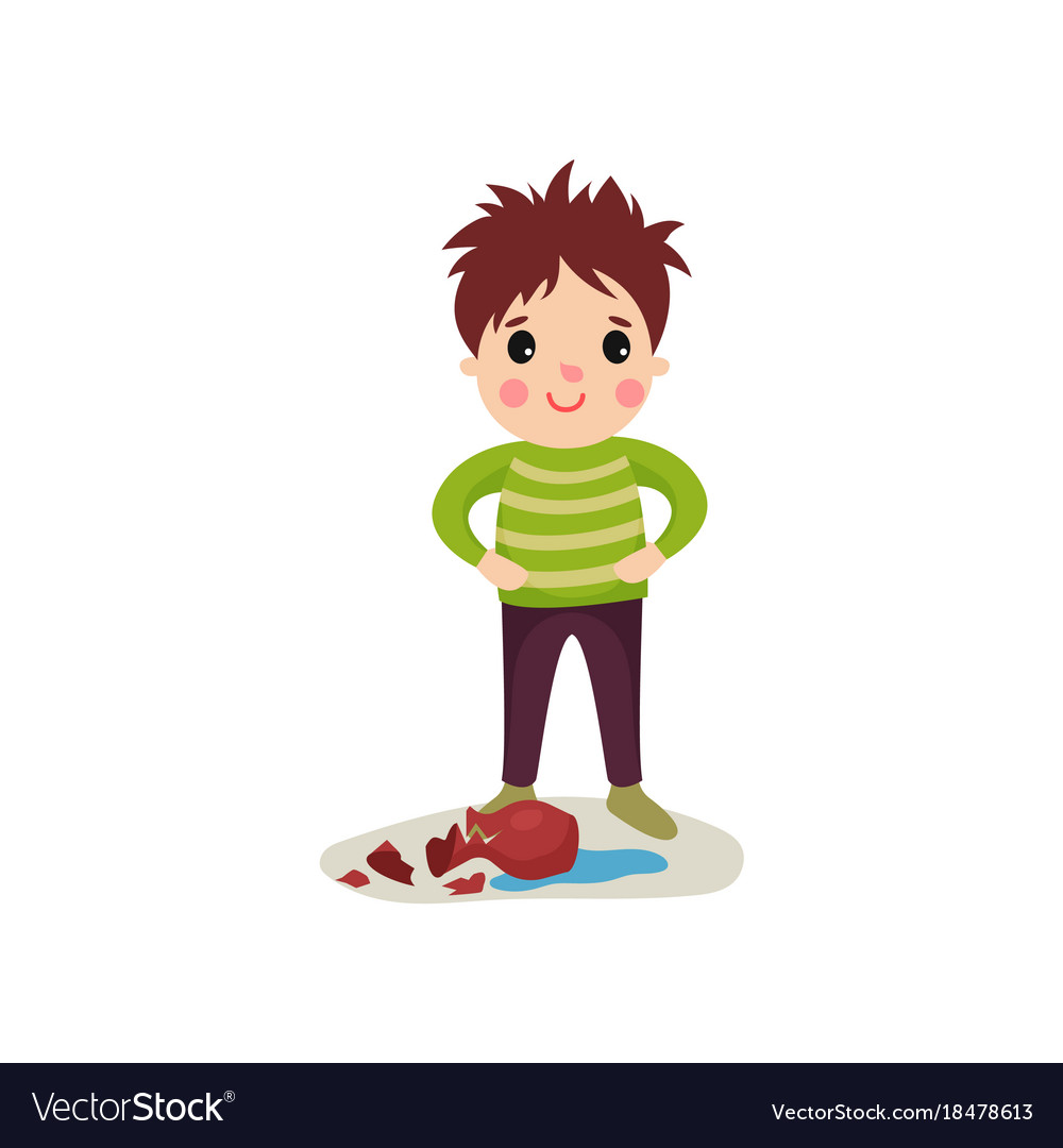 Naughty vector images over 1600 happy naughty boy with crazy hair flat character vector biocorpaavc