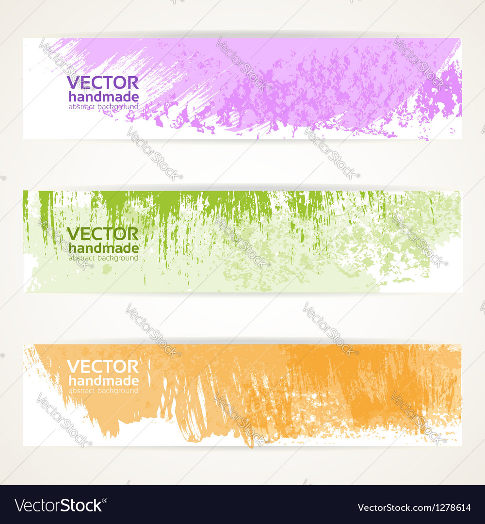 Decorative background color banners vector image