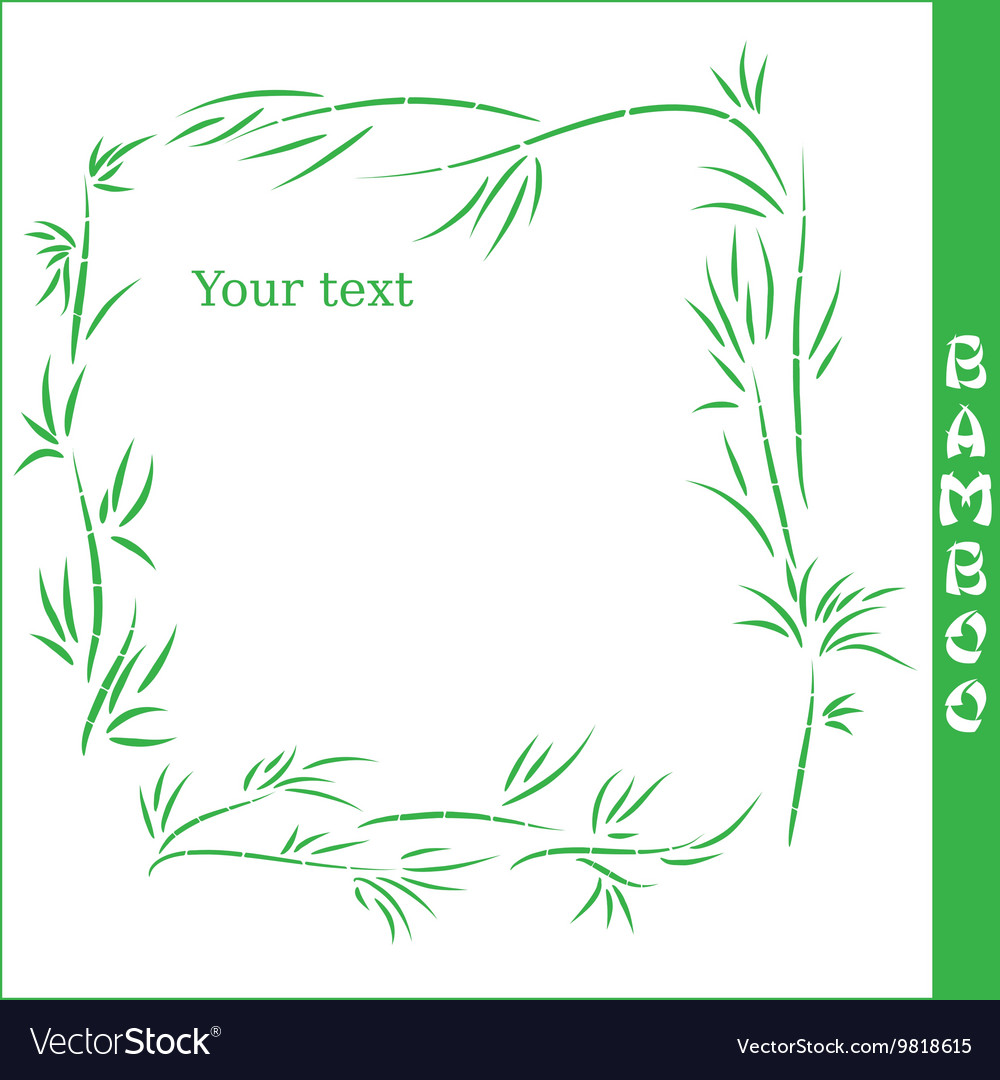 Bamboo square frame vector image