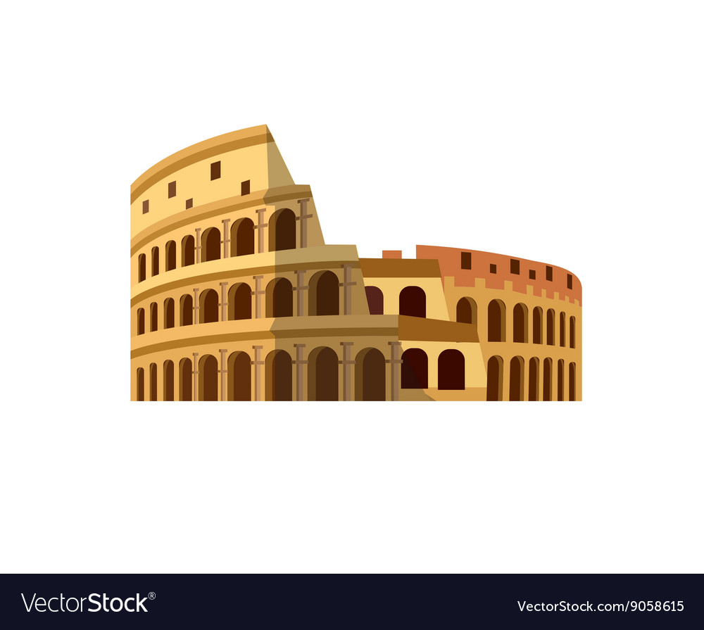 Coliseum in Rome Italy Colosseum Royalty Free Vector Image