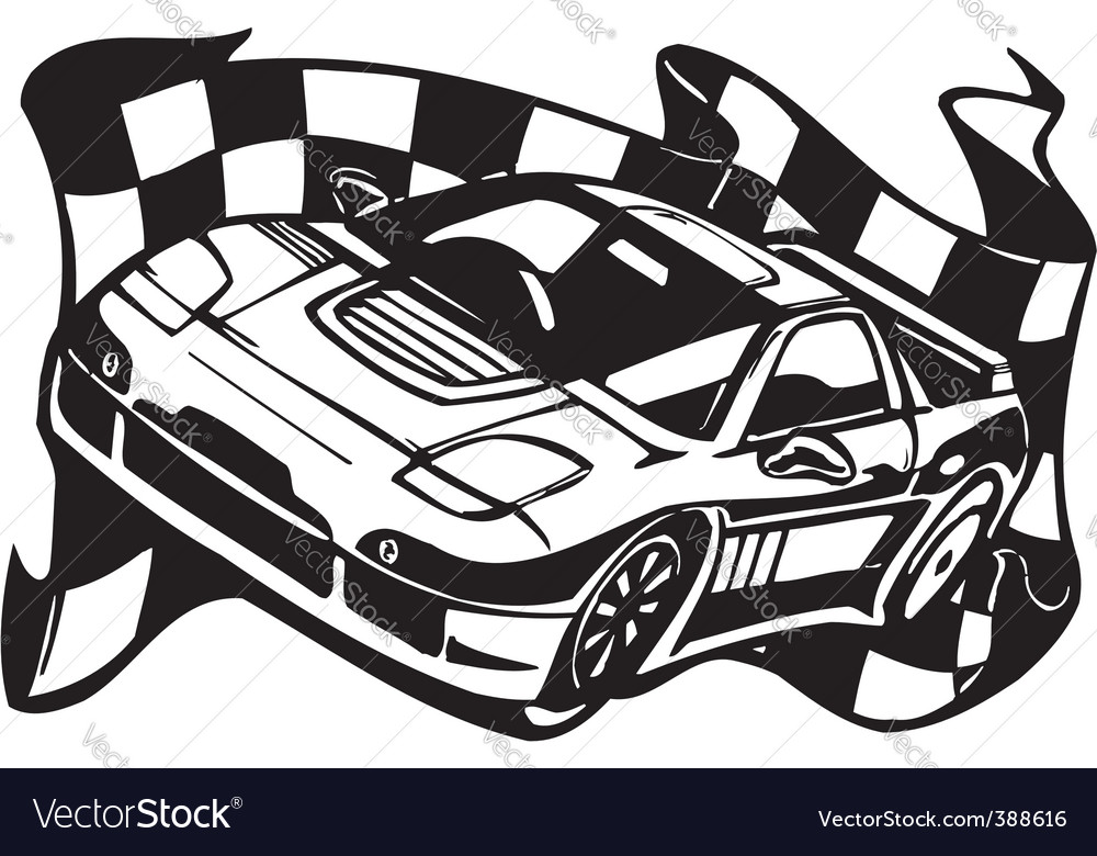 Street Racing Cars Royalty Free Vector Image Vectorstock