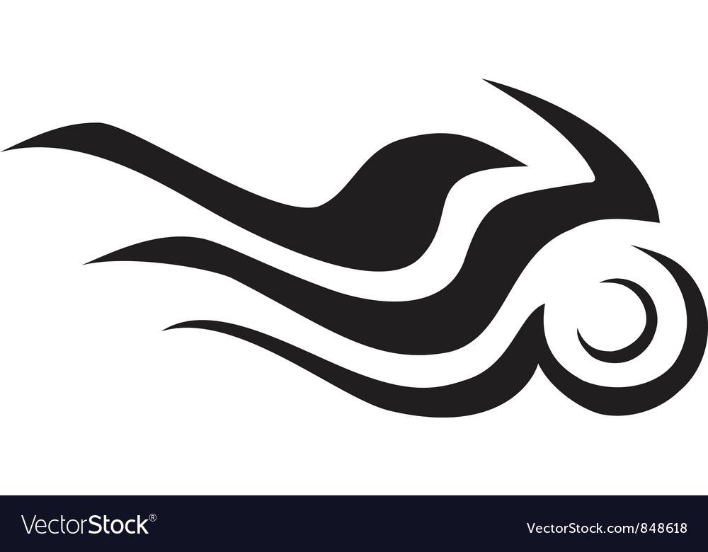 Burning motorcycle symbol vector image