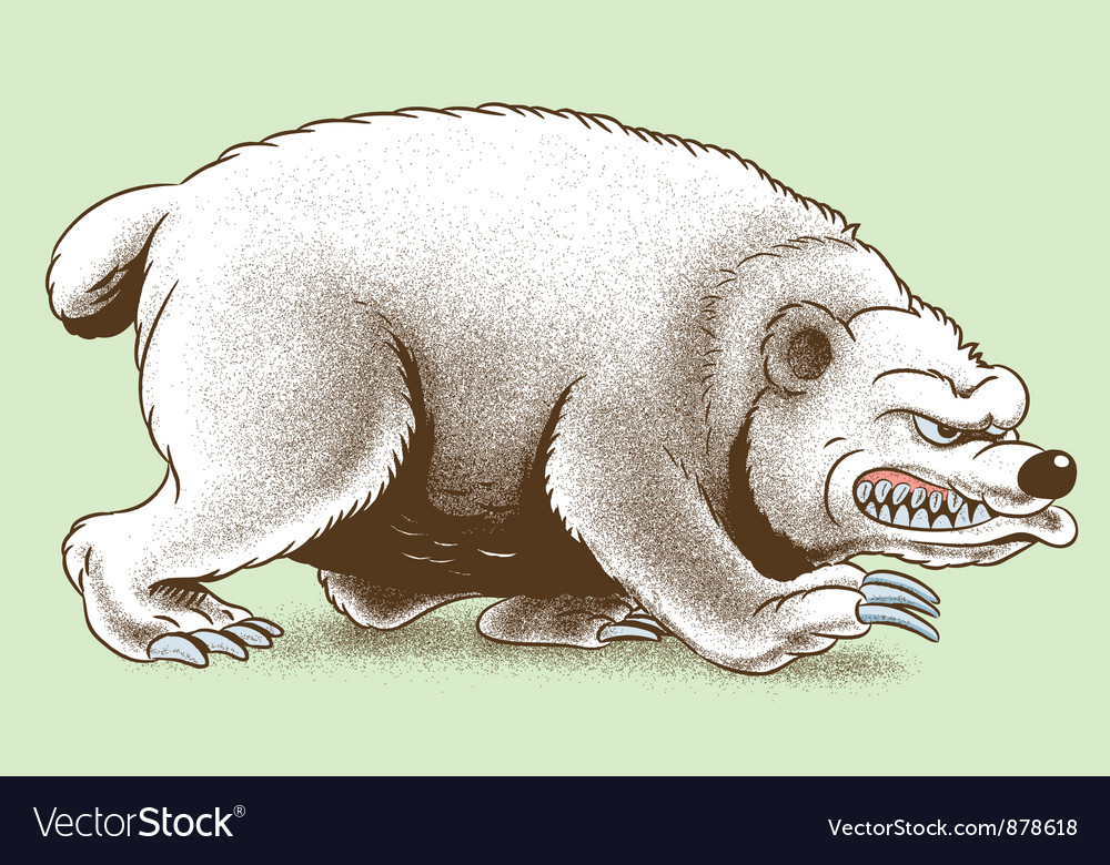 Scary Bear Royalty Free Vector Image - VectorStock