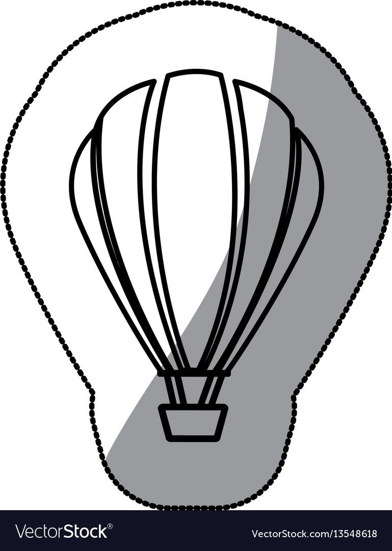 Sticker sketch contour hot air balloon icon Vector Image