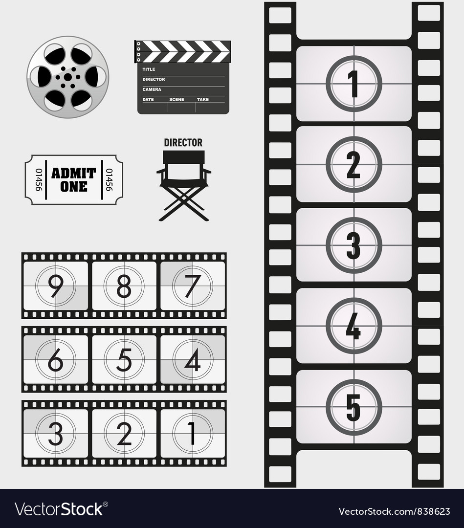 Movie and Cinema graphics Vector Image