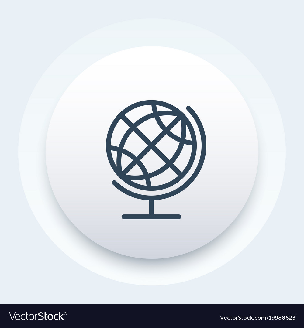 Globe icon linear style vector image