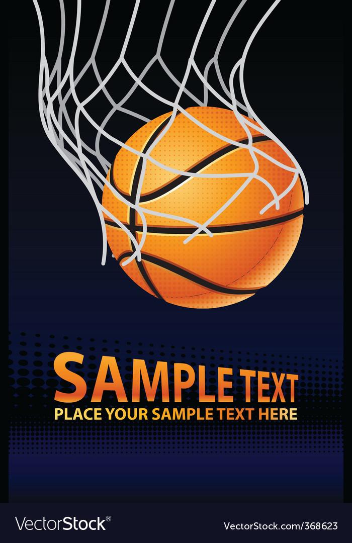 Vector basketball poster vector image