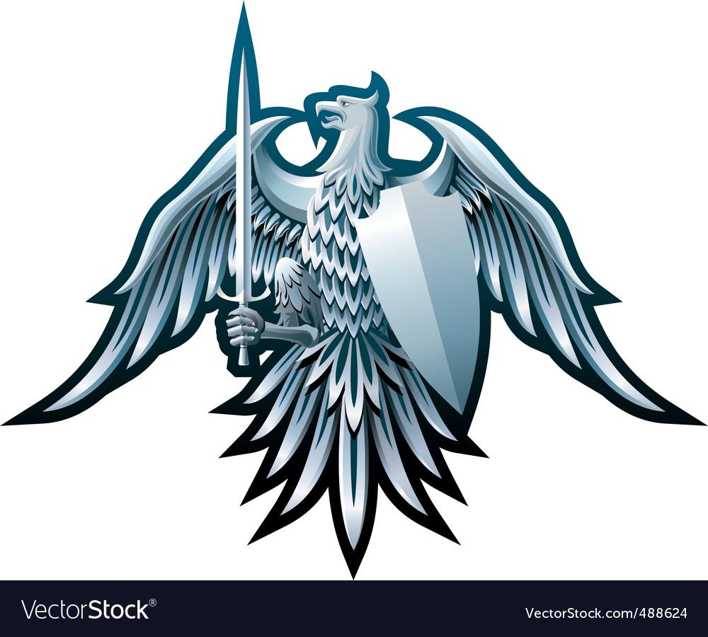 Iron eagle royalty free vector image vectorstock iron eagle vector image buycottarizona Gallery