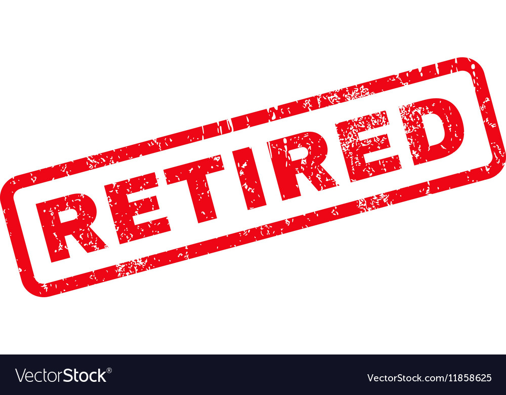 Retired Rubber Stamp Royalty Free Vector Image - VectorStock