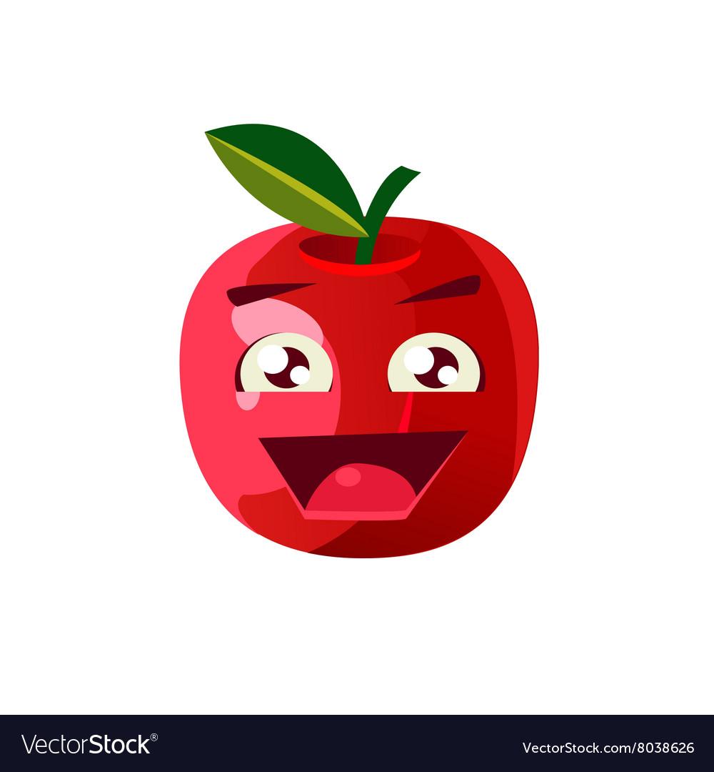 excited apple emoji royalty free vector image vectorstock