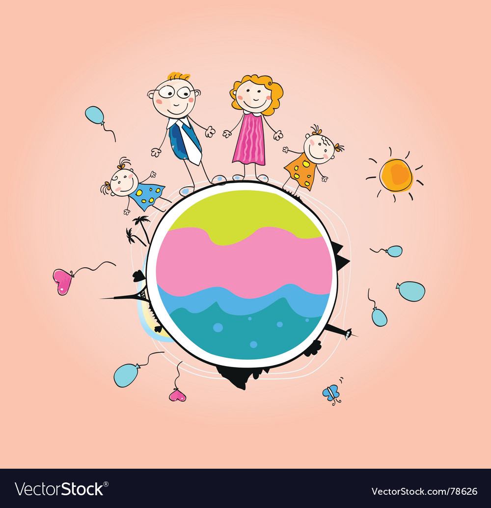 We are family vector image