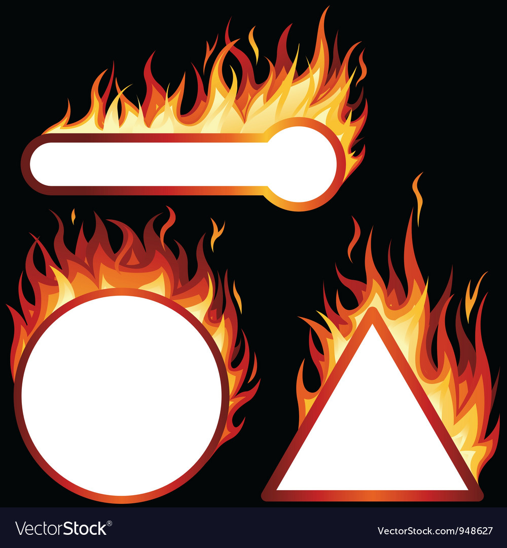 Flame Frames vector image
