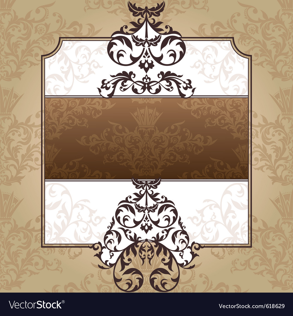 Abstract royal ornate vintage frame vector image