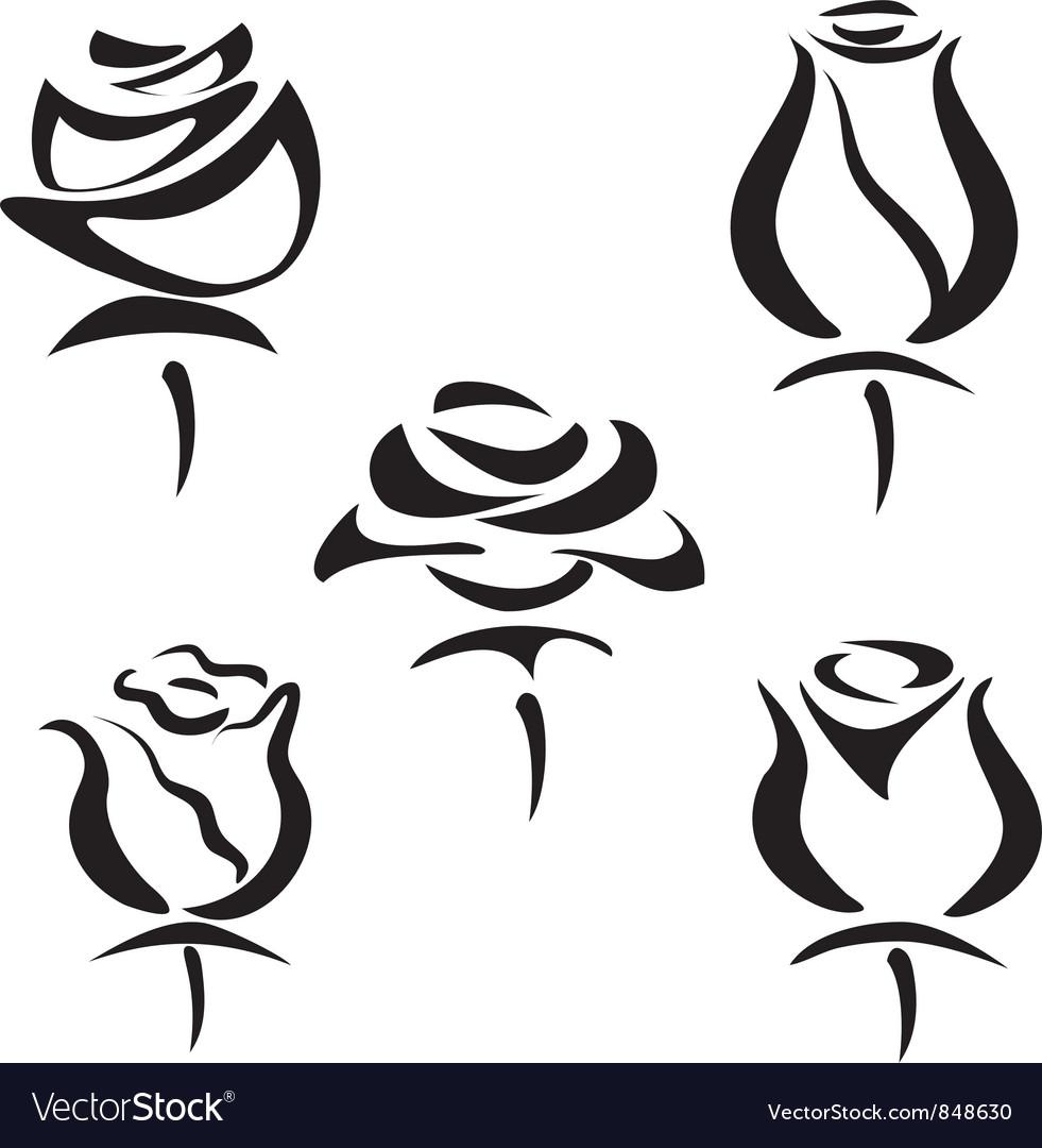 Rose set of symbols royalty free vector image vectorstock rose set of symbols vector image buycottarizona