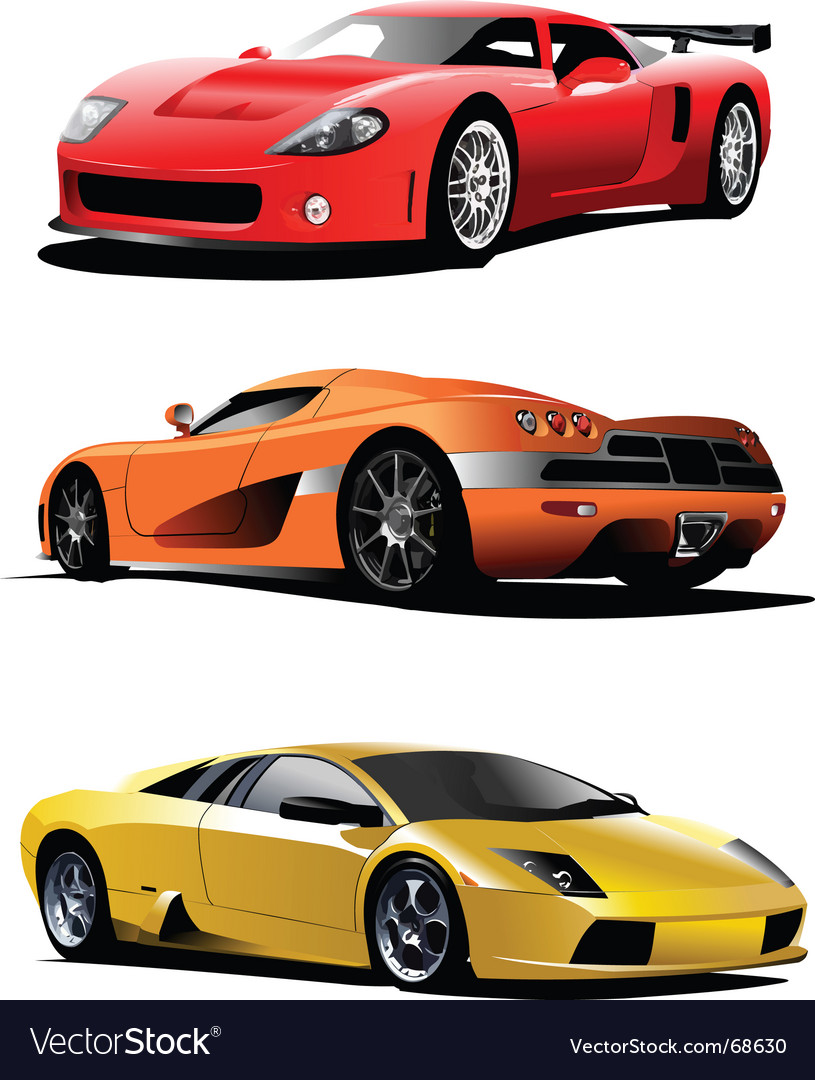 Sport Cars Royalty Free Vector Image Vectorstock
