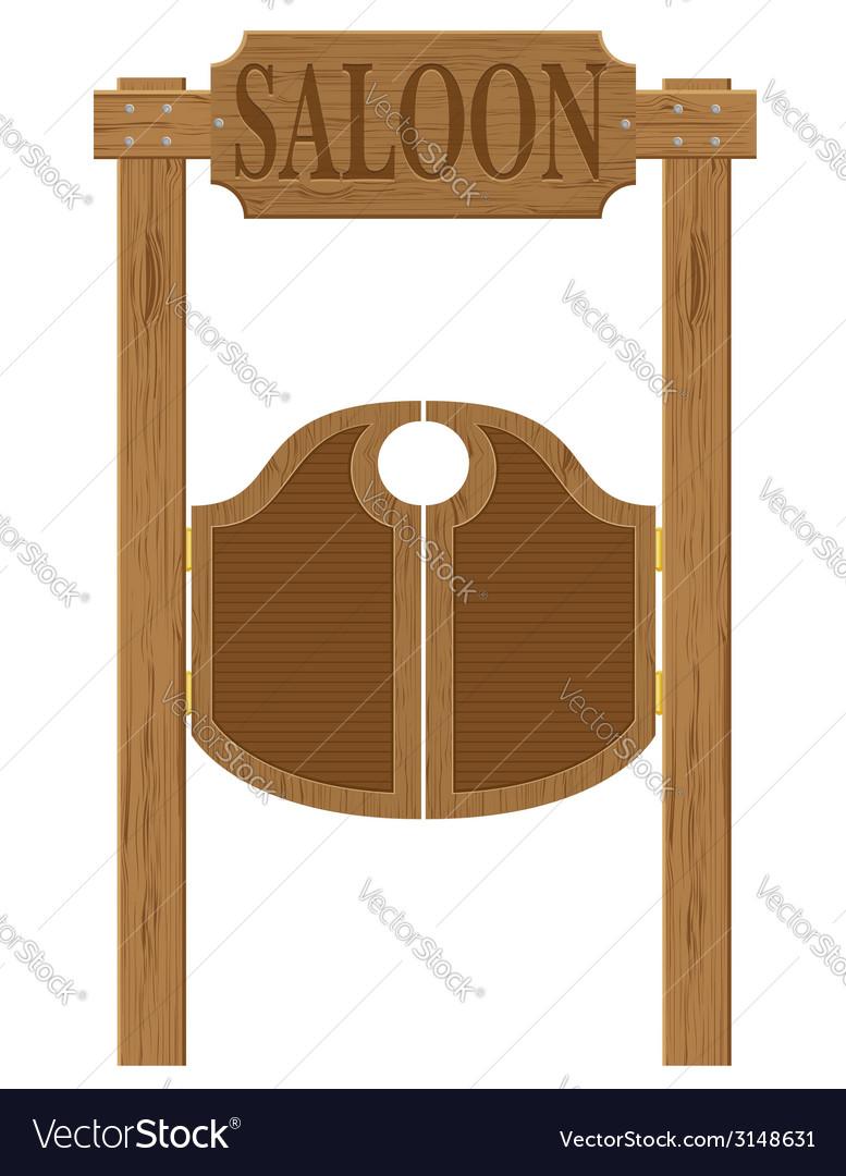 Doors in western saloon 01 vector image  sc 1 st  VectorStock & Doors in western saloon 01 Royalty Free Vector Image